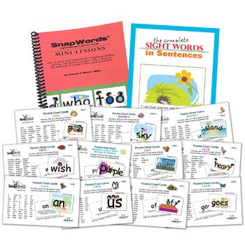 SnapWords® 607 Pocket Chart Cards