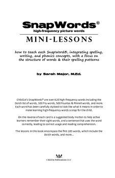 SnapWords® Mini-Lessons