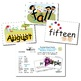 SnapWords® Numbers, Colors, Days, Months & Seasons Pocket Chart Cards
