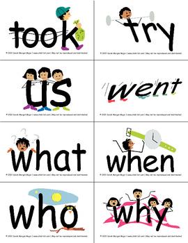 SnapWords® Sight Word List B Pocket Chart Cards