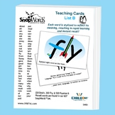 SnapWords® Sight Word List B Teaching Cards