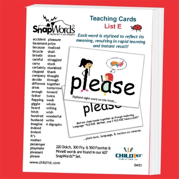 SnapWords® Sight Word List E Teaching Cards