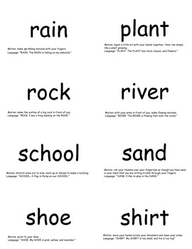 SnapWords® Sight Word Nouns List 1 Pocket Chart Cards