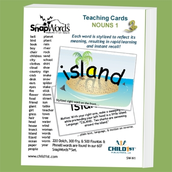 SnapWords® Sight Word Nouns List 1 Teaching Cards