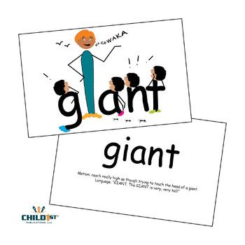 SnapWords® Sight Word Nouns List 1 Teaching Cards