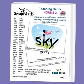 SnapWords® Sight Word Nouns List 2 Teaching Cards