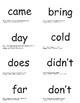 SnapWords® Sight Words Lists C-V Pocket Chart Cards Bundle