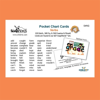 SnapWords® Verbs Pocket Chart Cards