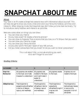 Snapchat About Me