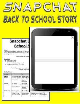 Snapchat Back To School Story