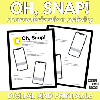 Snapchat Characterization Activity for ANY Story