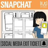 Snapchat Exit Ticket