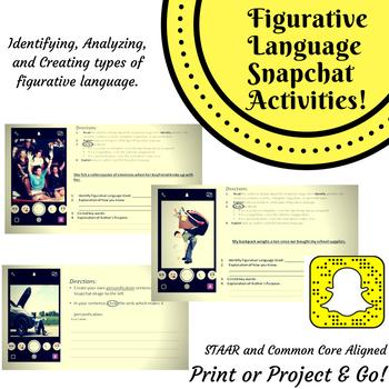 Snapchat Figurative Language Activity: CCSS and EOC Aligned