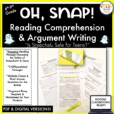 Snapchat, Reading Comprehension, Argument Essay, Worksheets