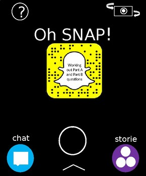 FSA Snapchat Review of Part A & B Questions for 8th grade