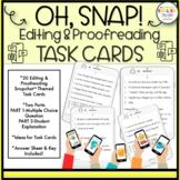 Snapchat Task Cards, Editing, Proofreading