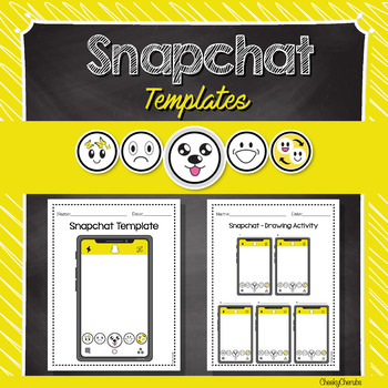 Snapchat Template - Editable with PowerPoint