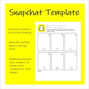 snapchat template by yarmchuk social studies class tpt. Black Bedroom Furniture Sets. Home Design Ideas