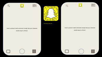 Snapchat Template for PowerPoint and Google Classroom