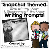 Snapchat Themed End/Beginning of the Year Writing Prompts