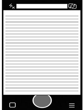 Snapchat Themed Writing Page