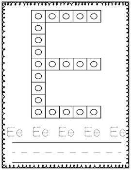 Snap Cubes Building Letters and Numbers Mats