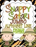 Snappy Safari JUMBO Alphabet Line: A Phonics Poster Set