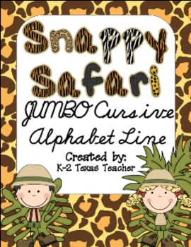 Snappy Safari JUMBO Cursive Alphabet Line: A Phonics Poster Set