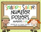 Snappy Safari Number Posters: A Jungle Teaching Tool Math Poster Set