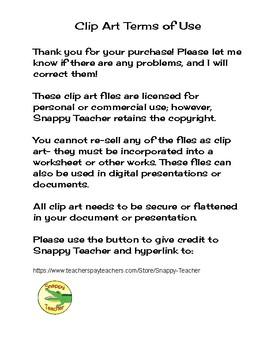 Snappy Teacher Clip Art Terms of Use