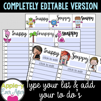 Snappy To Do Lists for Busy Teachers