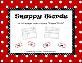 Snappy Words Activity Sheets