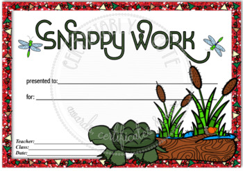 Snappy Work General Award
