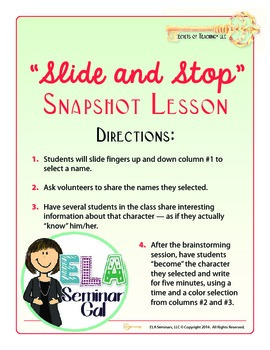 Slide and Stop Snapshot Lesson