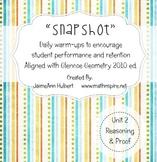 """Snapshot"" Logic & Proof {Integrated Geometry & Algebra 1"