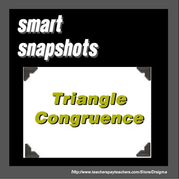 Triangle Congruence - SMART Notebook Snapshot