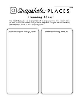 Snapshot Writing: Places (Vivid descriptive writing tool)