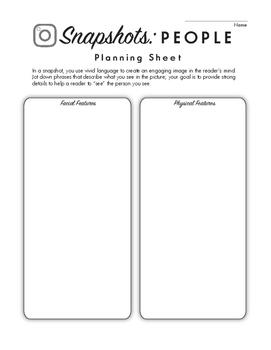 Snapshot Writing - People (Vivid descriptive writing tool)