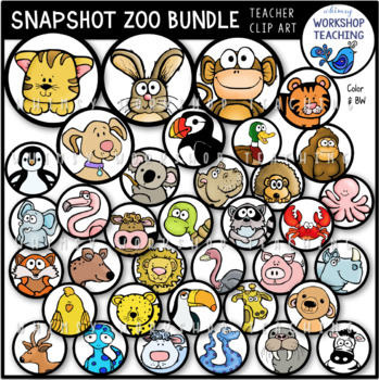 Snapshot ZOO Animals Clip Art
