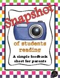 Snapshot of Student's Reading