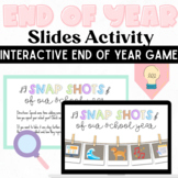 Snapshots End of Year Graduation Edition: Distance Learning Game Google Slides