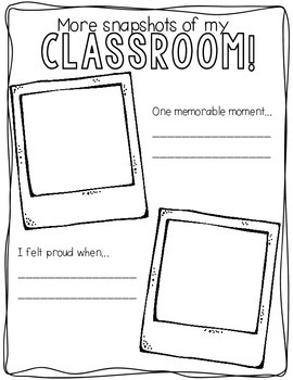 Snapshots End of Year Memory Book PreK-2 Edition {English}