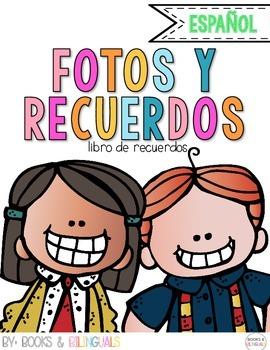 Snapshots End of Year Memory Book {Spanish}