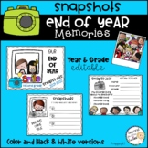 End of Year Memory Book  (snapshots of our year)