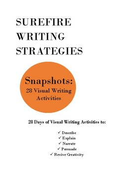 Snapshots: Visual Writing Activities/Bell Ringers