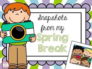 Snapshots from Spring Break FREE Craftivity