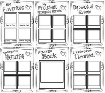 Snapshots of Kindergarten ~ A Kindergarten Memory Book