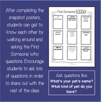 Back to School: Snapshots of Me and My Classroom Posters