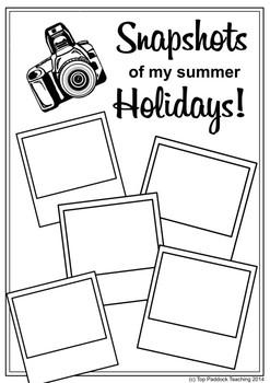 Snapshots of My Summer Holidays