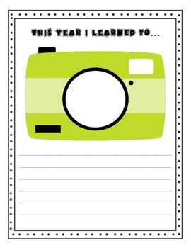 Memory Book- Snapshots of Second Grade